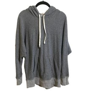 J. Crew Knit Hoodie Sweatshirt Top Gray - Small